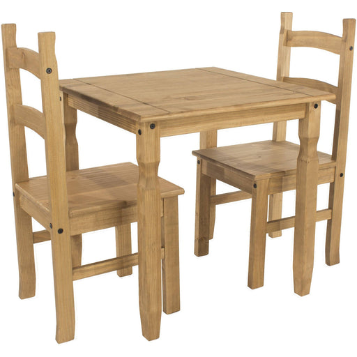 Corona Classic square dining table & 2 chair SET - Simply Utopia