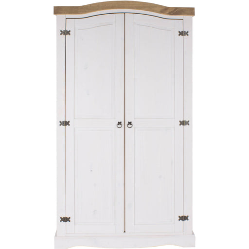 Corona White 2 door wardrobe - Simply Utopia