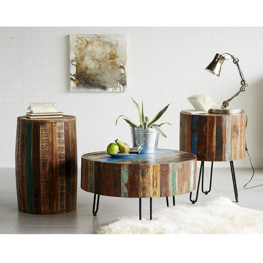 Coastal Drum Side Table - Simply Utopia