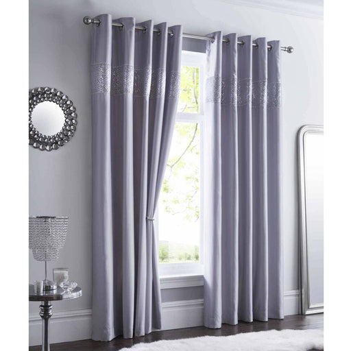 Shimmer Eyelet Curtains - Simply Utopia