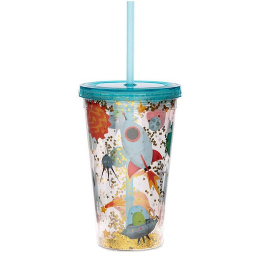 Retro Space Cadet Double Walled Cup with Lid and Straw - Simply Utopia
