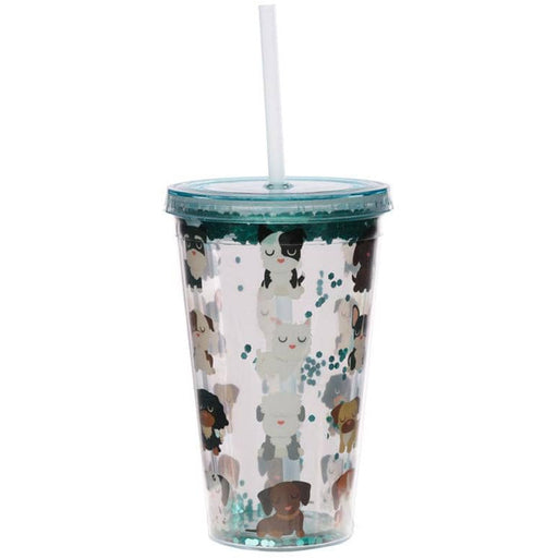 Dog Squad Double Walled Cup with Lid and Straw - Simply Utopia