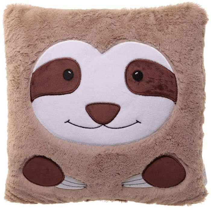 Fun Plush Sloth Face Cushion - Simply Utopia