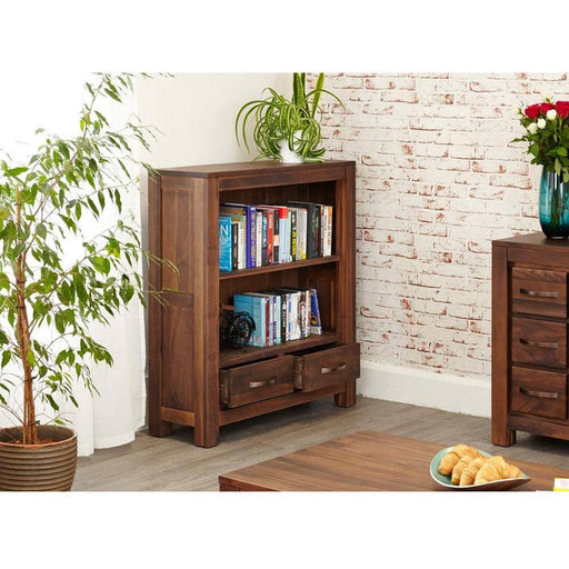 Mayan Walnut Low Bookcase - Simply Utopia