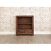 Mayan Solid Walnut 2 Drawer Low Bookcase - Simply Utopia