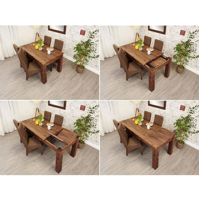 Mayan Walnut Extending Dining Table - Simply Utopia
