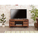 Mayan Solid Walnut 2 Drawer Low Widescreen Television Cabinet - Simply Utopia
