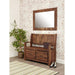 Mayan Walnut Monks Bench with Shoe Storage - Simply Utopia