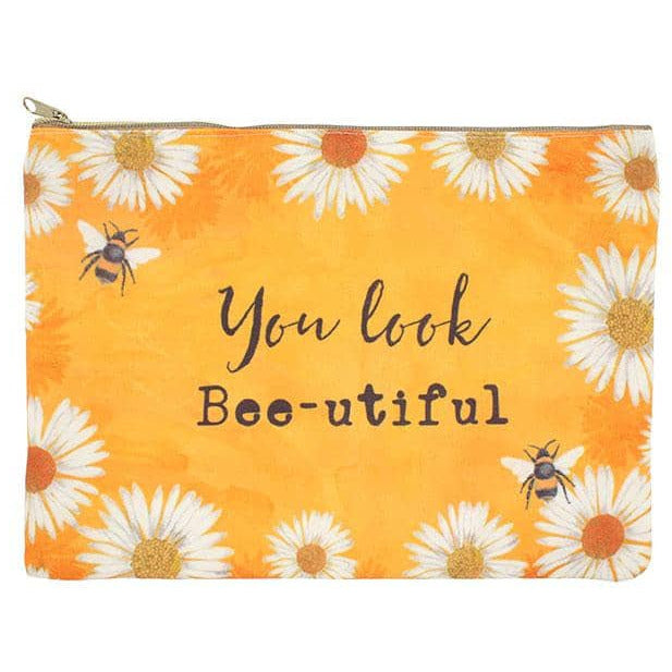 You Look Bee-utiful Makeup Pouch - Simply Utopia