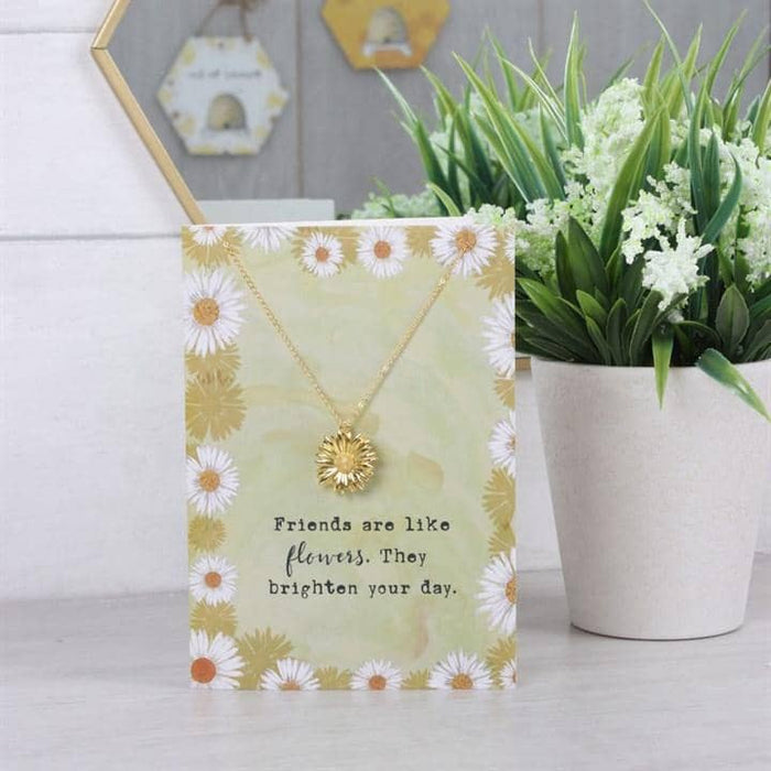 Friends Are Like Flowers Necklace And Card Set - Simply Utopia