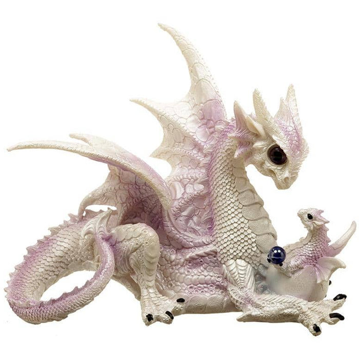 Mothers Bond Fantasy Winter Warrior Dragon Figurine - Simply Utopia