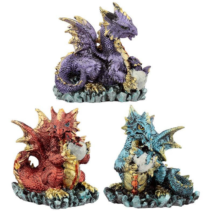 Mother and Hatching Baby Elements Dragon Figurine - Simply Utopia
