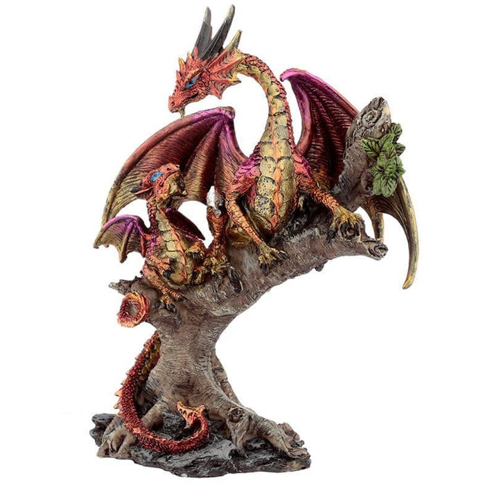 Forest Fire Mother Dark Legends Dragon Figurine - Simply Utopia