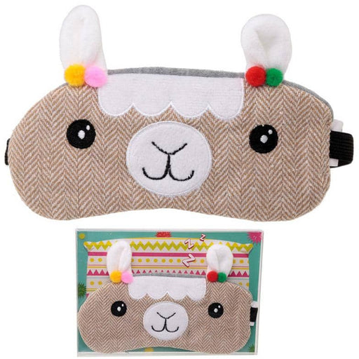 Fun Eye Mask - Plush Llamapalooza Design - Simply Utopia