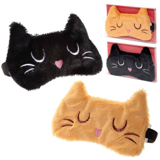 Fun Eye Mask - Plush Feline Fine Cat Design - Simply Utopia