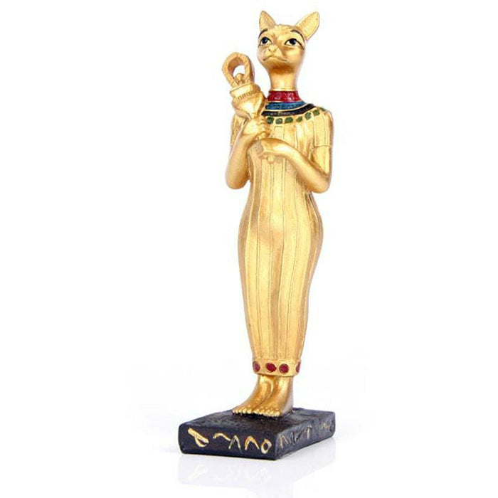 Decorative Gold Standing Bast Egyptian Figurine - Simply Utopia