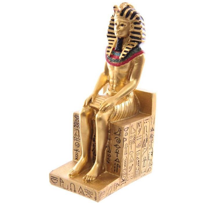 Decorative Gold Egyptian Seated Ramases Figurine - Simply Utopia