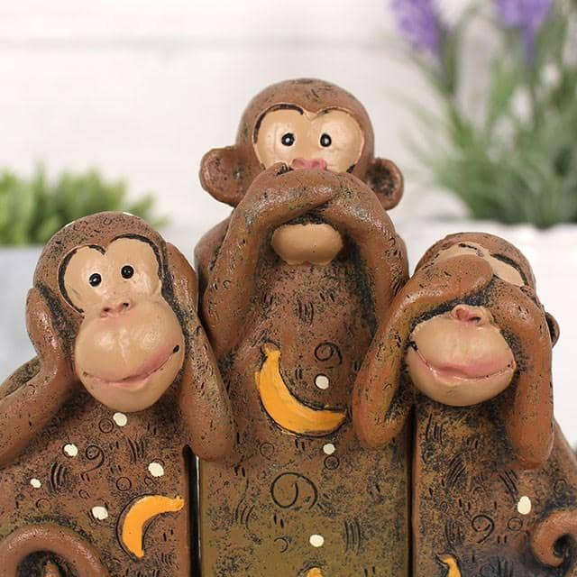 See, Speak, Hear No Evil Monkeys - Simply Utopia