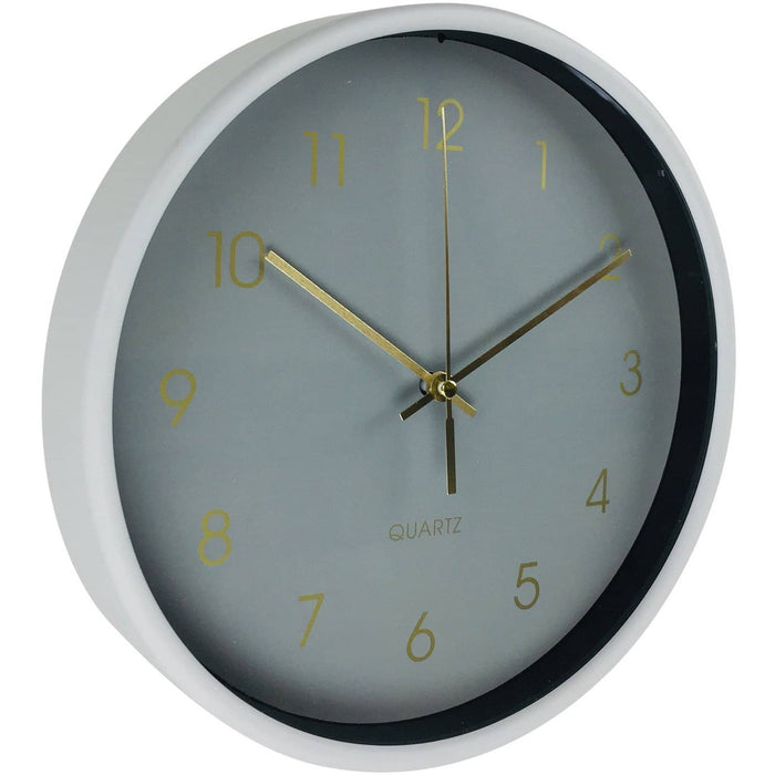 Round Wall Clock In Grey 25cm - Simply Utopia