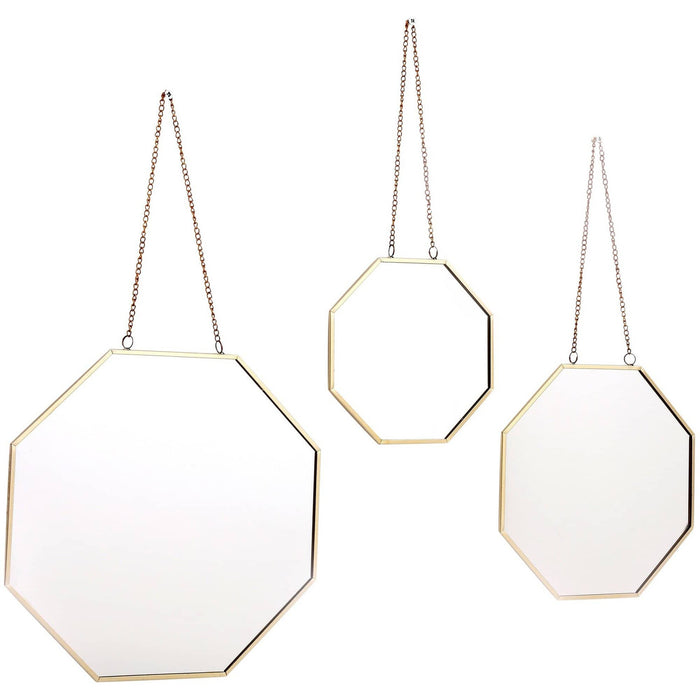 Set of 3 Hanging Geometric Mirrors - Simply Utopia