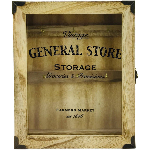 Rustic General Store Key Box Wooden - Simply Utopia