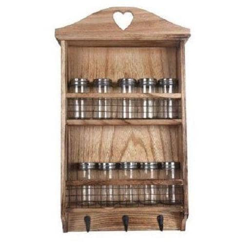 Wooden Spice Wall Rack - Simply Utopia