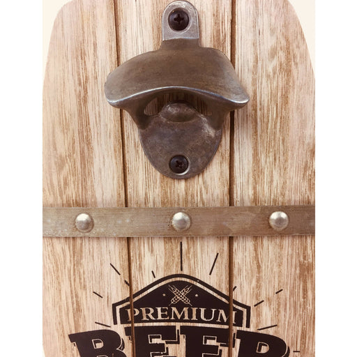 Wall Hanging Beer Barrel Bottle Opener - Simply Utopia