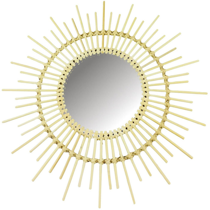 Rattan Mirrors Pointed 51cm - Simply Utopia