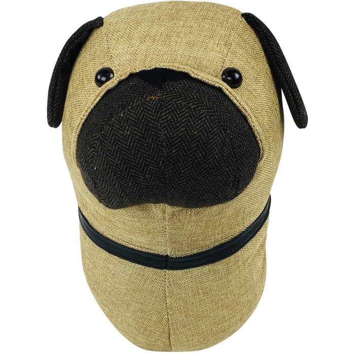 Fabric Wall Mounted Pug Head 30cm - Simply Utopia