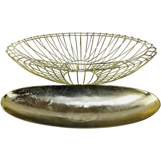 Gold Decorative Wire Bowl 58cm - Simply Utopia