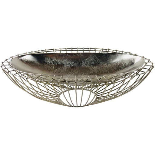 Silver Decorative Wire Bowl 58cm - Simply Utopia