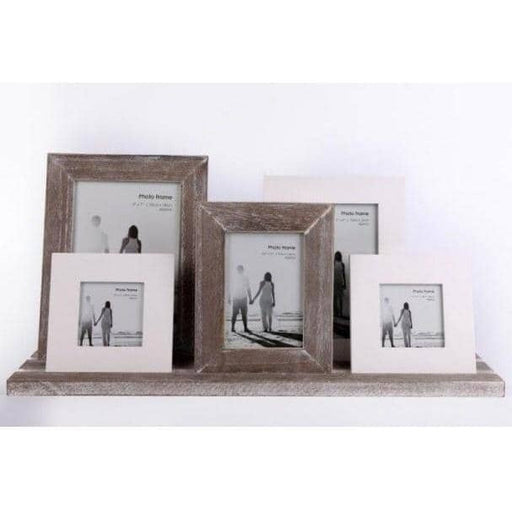 Wooden Rustic Frames On Tray 48cm - Simply Utopia