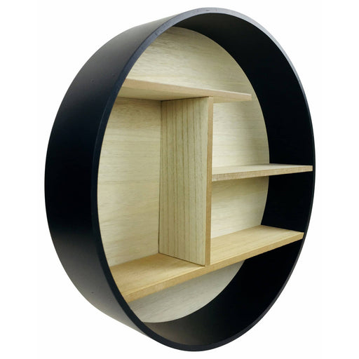 Black Round Shelf Unit 46 - Simply Utopia