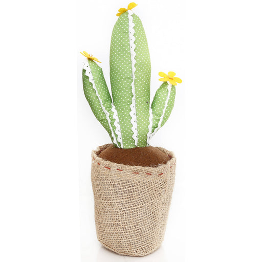 Light Green with Lace Cactus Doorstop 34cm - Simply Utopia