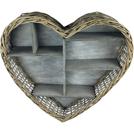 Wicker Heart Shelf Unit - Simply Utopia