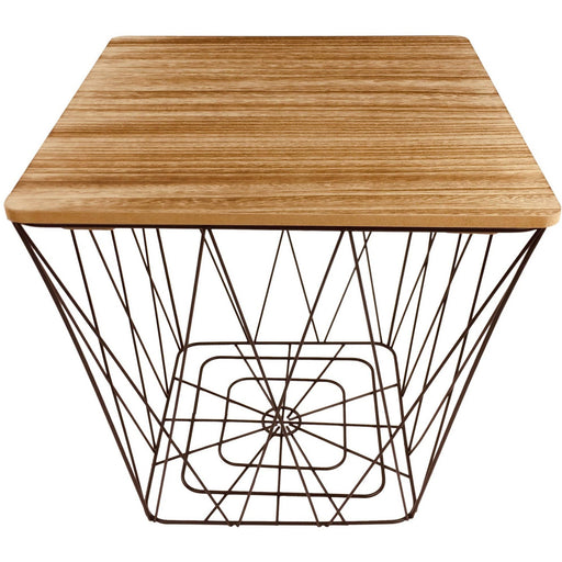 Geometric Black Wire Square Side Table - Simply Utopia