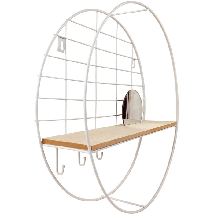 Shelving Unit with Mirror 45cm - Simply Utopia