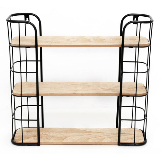 Wire Wooden Wall Shelf - Simply Utopia