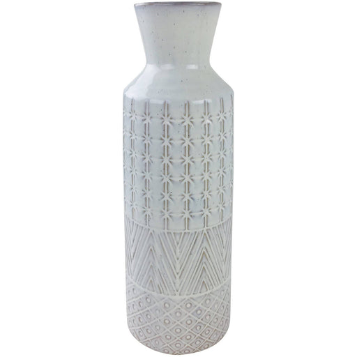 White Star Textured Stoneware Vase 44cm - Simply Utopia
