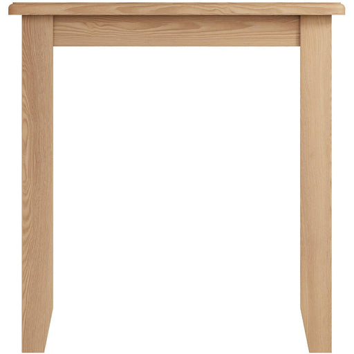 Walton Oak Solid Wood Framed Fixed Top Table With Light Oak Finished Top - Simply Utopia