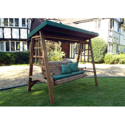 Dorset Three Seat Swing Green - Simply Utopia