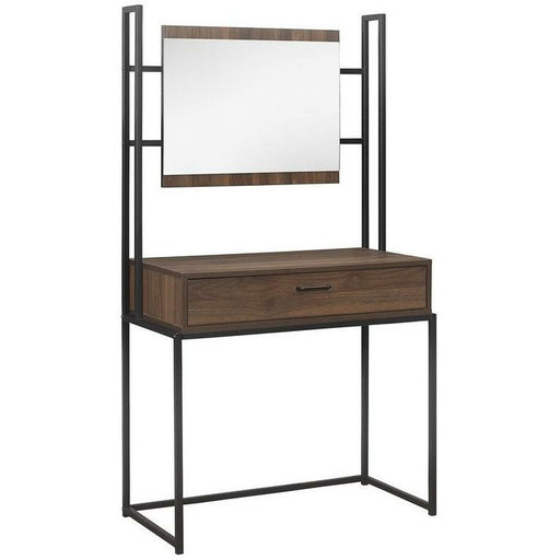 Houston Dressing Table & Mirror Walnut - Simply Utopia