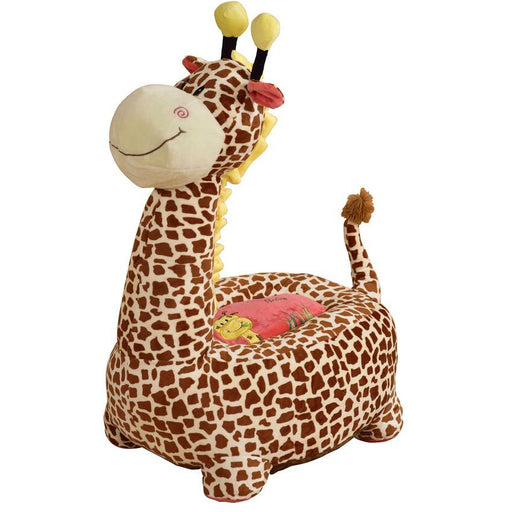 Plush Giraffe Sofa Riding Chair (Pink) - Simply Utopia