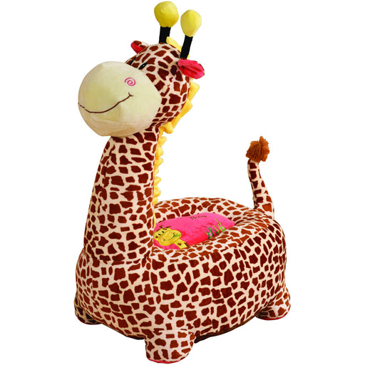 Plush Giraffe Sofa Riding Chair (Brown) - Simply Utopia