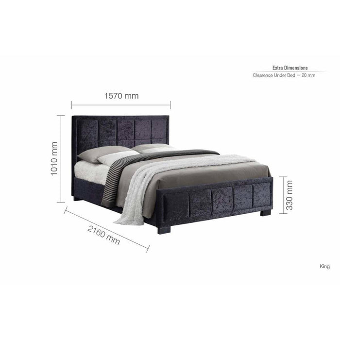 Hannover Fabric Bed - Simply Utopia