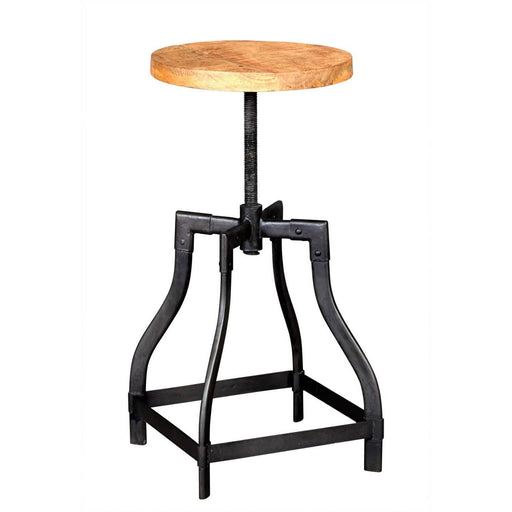Cosmo Hand Crafted Mango Wood Industrial Stool - Simply Utopia