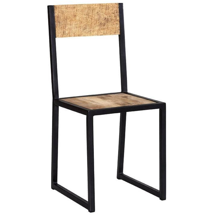 Cosmo Industrial Style Metal And Wood Dining Chair - Simply Utopia