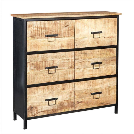 COSMO INDUSTRIAL 6 DRAWER CHEST - Simply Utopia
