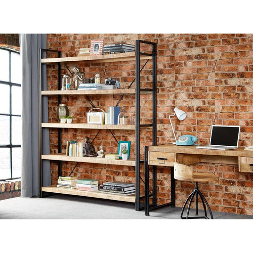 Cosmo Industrial Large Open Bookcase - Simply Utopia