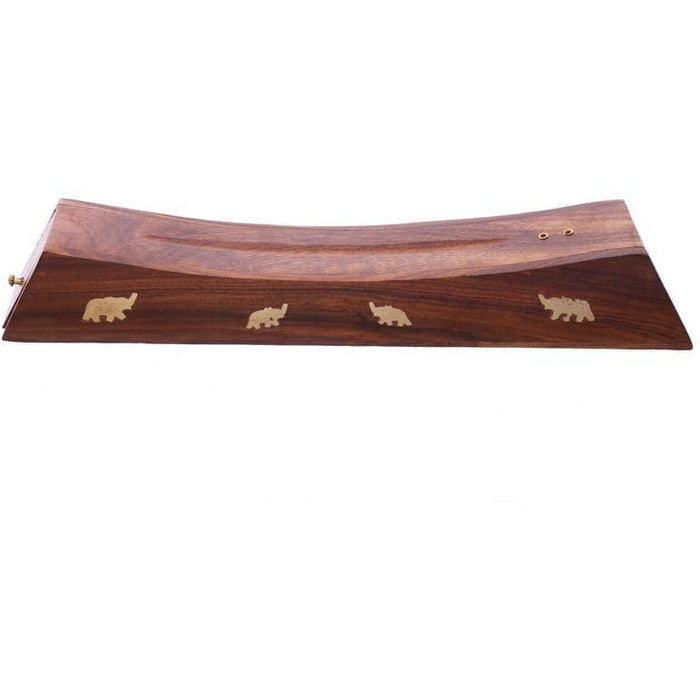 Decorative Sheesham Wood Incense Stick Elephant Box - Simply Utopia